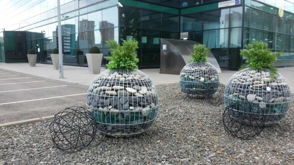 габионы шары в ландшафтном дизайне